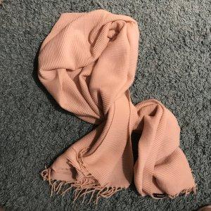 More & More Sciarpa lavorata a maglia rosa pallido Tessuto misto