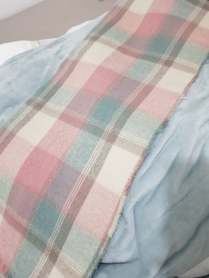 Atmosphere Woolen Scarf pink-pale blue