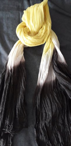 Bufanda arrugada marrón oscuro-amarillo