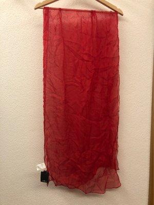 Bijou Brigitte Bufanda de seda rojo