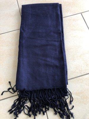 Fringed Scarf dark blue