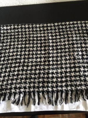 Hallhuber Bufanda de punto negro-blanco