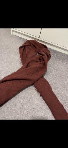 Écharpe à franges rouge carmin