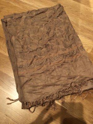 Bufanda de cachemir marrón claro