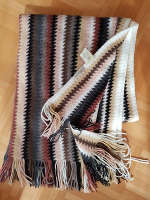 Codello Écharpe en laine marron clair-crème