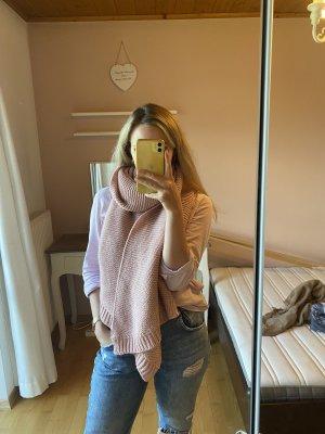 Écharpe en crochet rose-rose clair