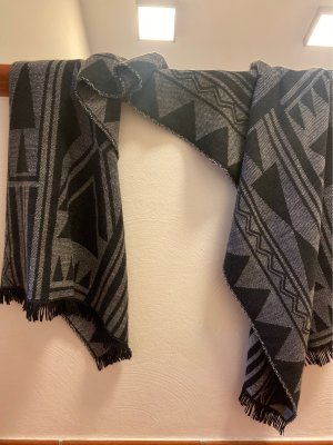Only Knitted Scarf black-grey