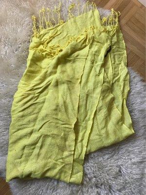 Pieces Chal veraniego amarillo neón-amarillo limón