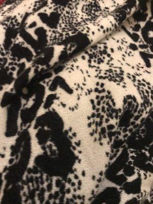 Codello Écharpe en laine blanc-noir