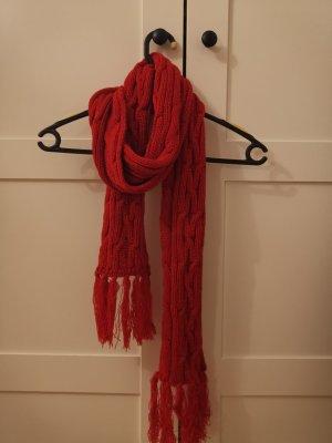 H&M Bufanda de punto rojo