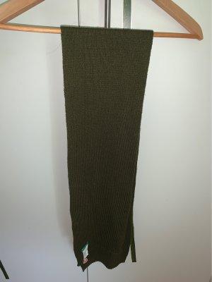 Benetton Écharpe en tricot kaki-vert foncé