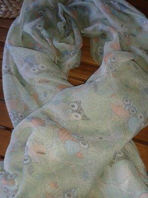 Zijden sjaal veelkleurig Viscose