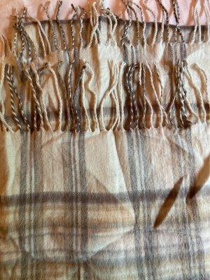 H&M Wełniany szalik w kolorze białej wełny