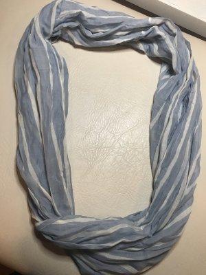 Pieces Bufanda tubo azul celeste-blanco
