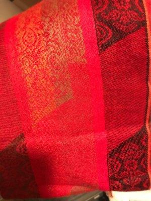Zomersjaal rood