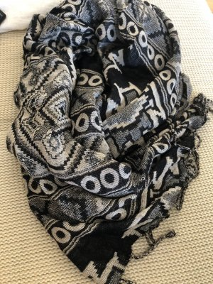 Accessorize Fringed Scarf black-oatmeal