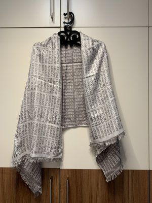 Armani Exchange Woolen Scarf silver-colored-light grey