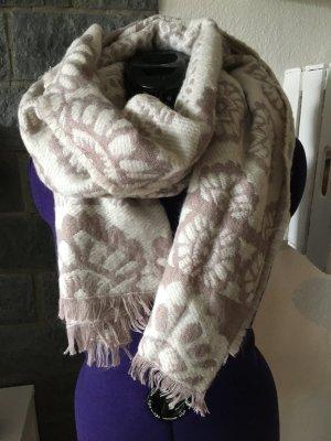 Atmosphere Bufanda de lana rosa claro-blanco