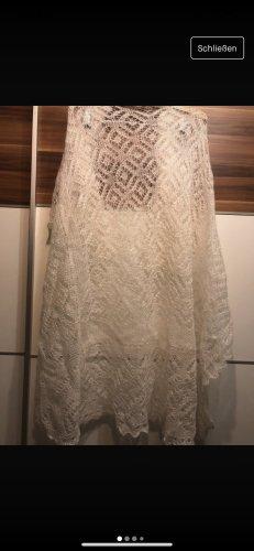 keine Crochet Scarf white