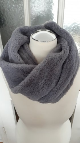 Écharpe ronde gris polyester