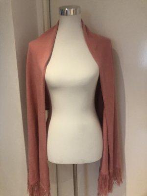Bufanda de punto rosa-rosa