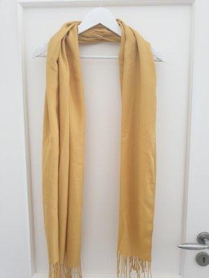 H&M Bufanda de flecos amarillo