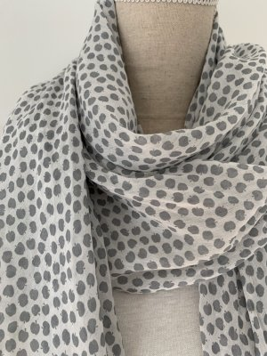 Anna Justper Silk Scarf light grey-dark grey cotton