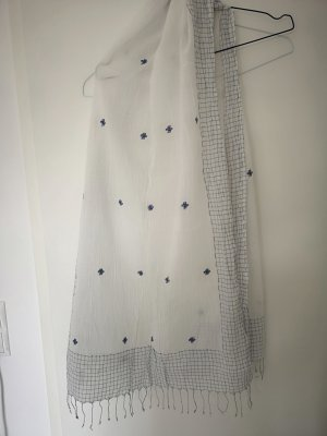 & other stories Summer Scarf white-dark blue