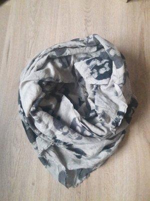 Becksöndergaard Zijden sjaal donkerbruin-beige