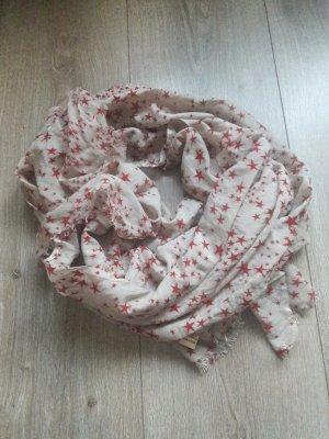 Becksöndergaard Sciarpa di seta rosso-crema Seta