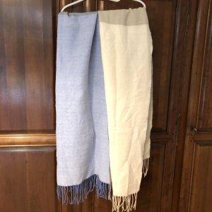 Schal beige/hellblau
