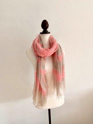 Schal beige rosa Pink Tuch leichtes Tuch Sommer Sommertuch Sommerschal