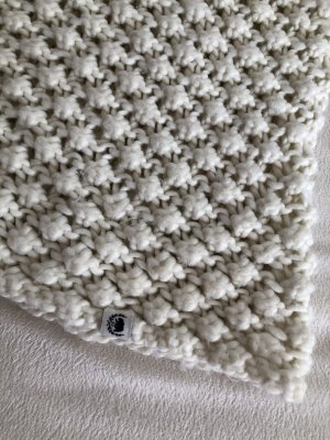Komin zawijany biały-w kolorze białej wełny