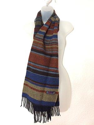 Schal Blanket Scarf Vintage Lamswool Schurwolle Hemley gestreift