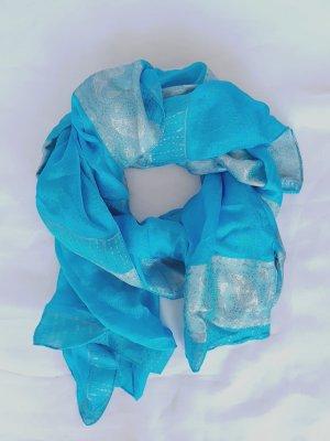 Unbekannte Marke Écharpe en soie multicolore