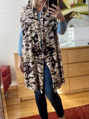Blumarine Knitted Scarf dark brown-natural white