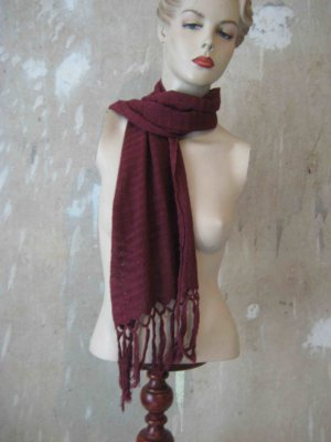 Crochet Scarf bordeaux