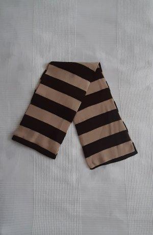 keine Écharpe en laine brun foncé-beige