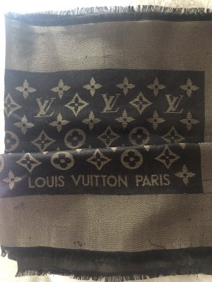 Louis Vuitton Silk Scarf brown-gold-colored