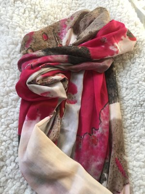 Gerry Weber Summer Scarf magenta-light brown