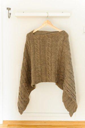 Wollen sjaal grijs-bruin Gemengd weefsel