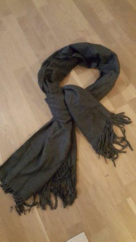 Codello Bufanda de flecos gris oscuro