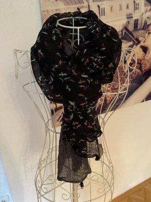 Codello Bufanda de lana negro-gris