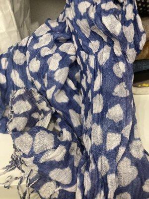 Nicole Marciano Fringed Scarf white-blue