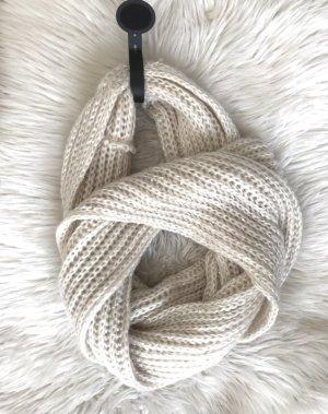 Bufanda de punto blanco puro