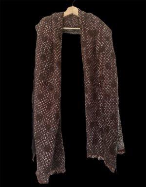 Zara Gebreide sjaal braambesrood