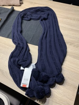s.Oliver Knitted Scarf dark blue