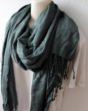 Schal, dunkelgrün-grau