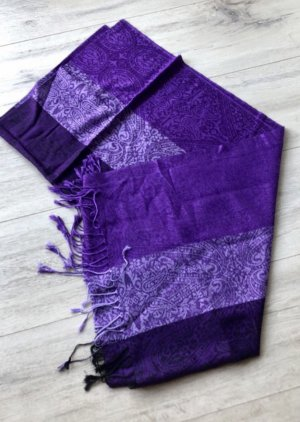 Écharpe à franges violet