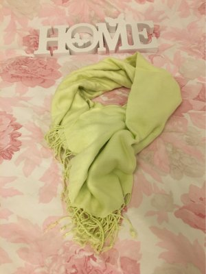 H&M Fringed Scarf pale green